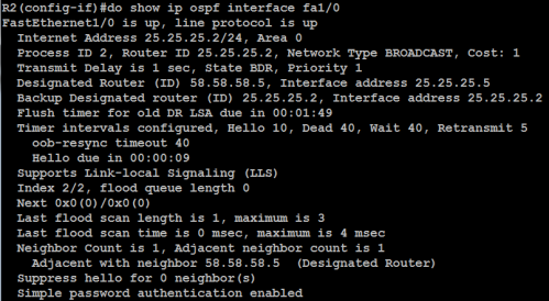 30. show ospf authentication