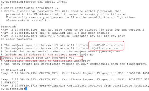 crypto pki enroll